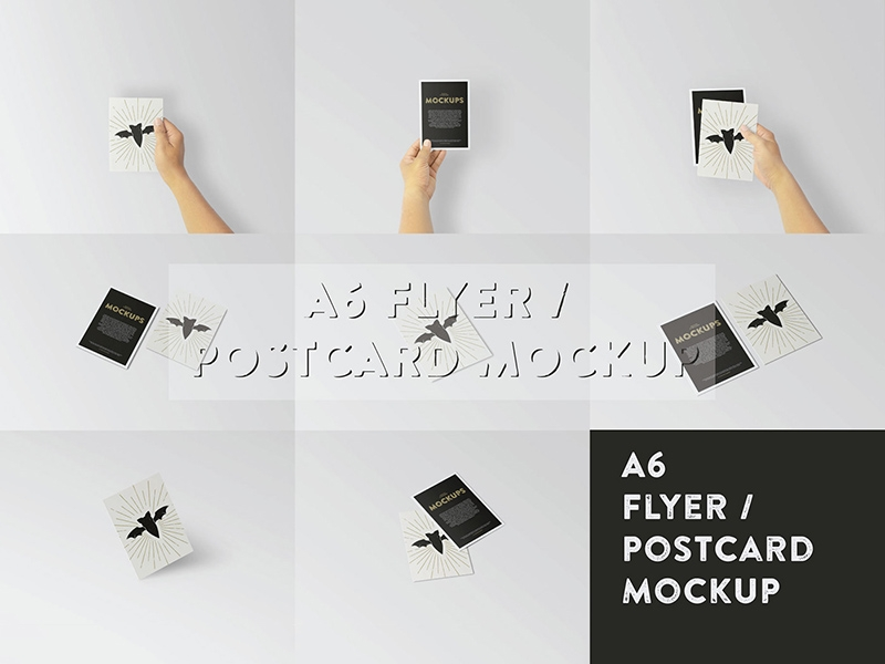 a6 flyer postcard mockup free psd template psd repo