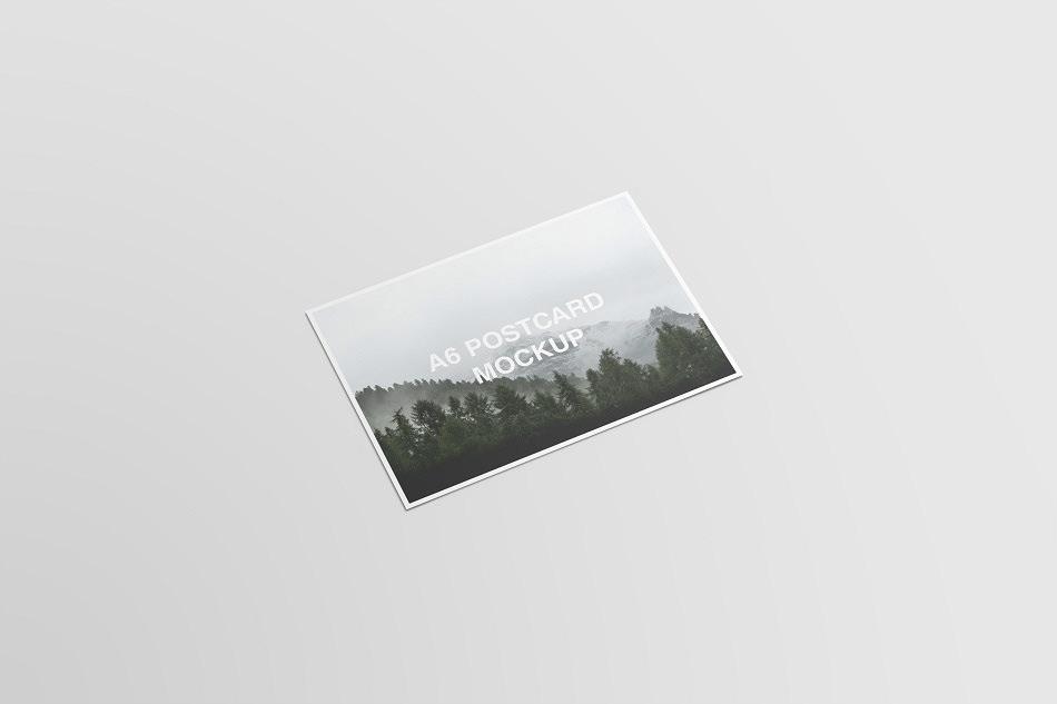 a6 postcard and envelope mockups on behance