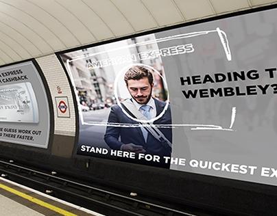amex nyc subway ad mockup concept on behance