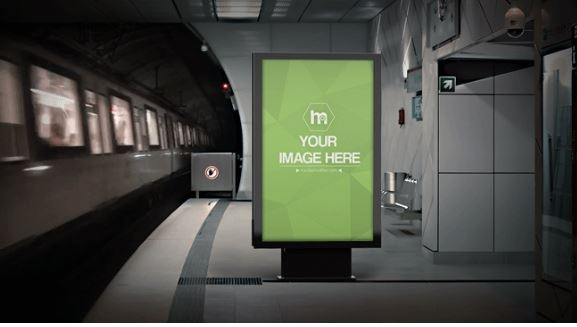 animated subway advertisement mockup generator sharetemplates
