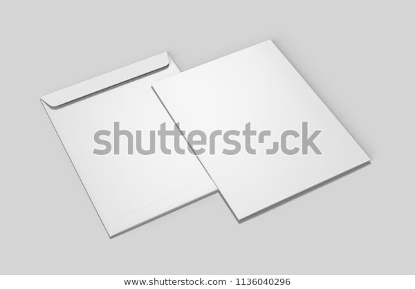 blank white c4 envelope mockup blank stock illustration 1136040296