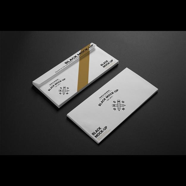 business envelope mock up design psd file free download