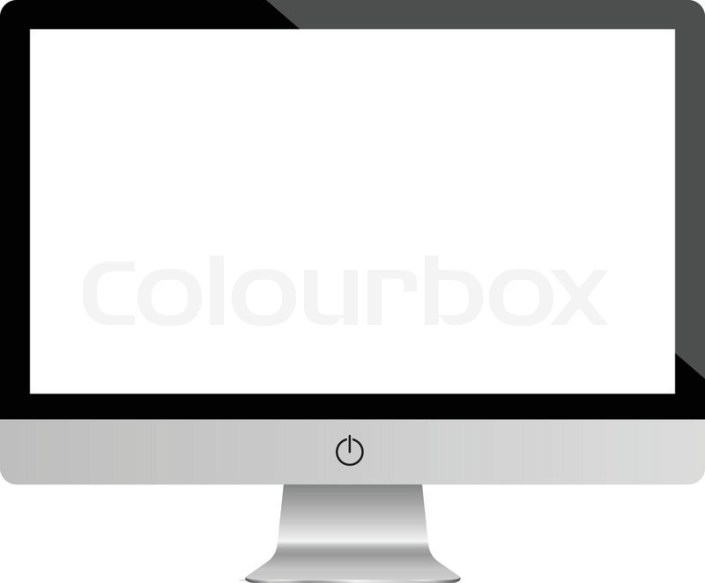 computer display monitor highly stock vector colourbox