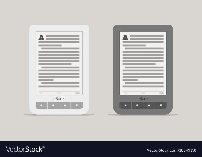 e book reader or tablet computer mockup black and