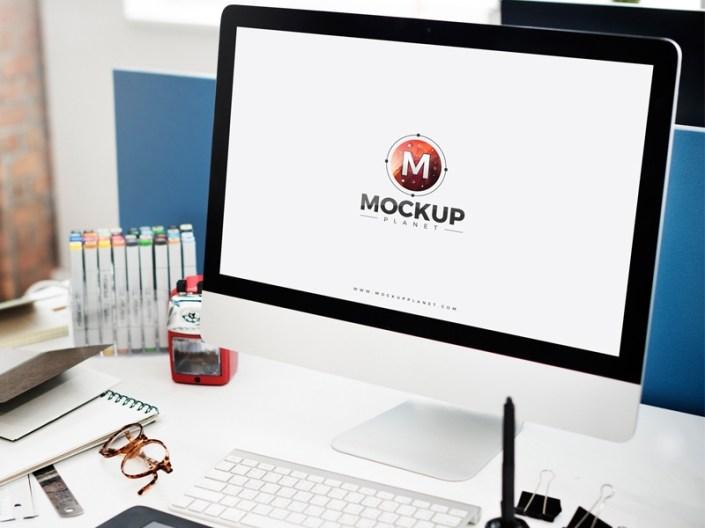 free computer website mockup for ui presentation mockup planet on