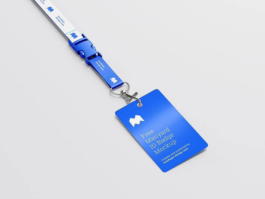 free lanyard id badge mockup mockups design free premium mockups