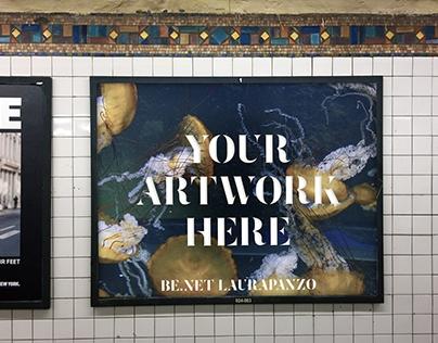 free nyc subway ad mockup psds on behance