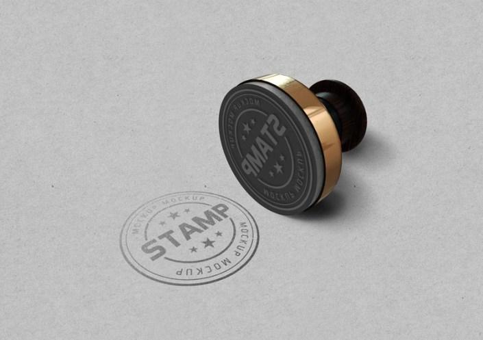 free round stamp mockup psd designbolts