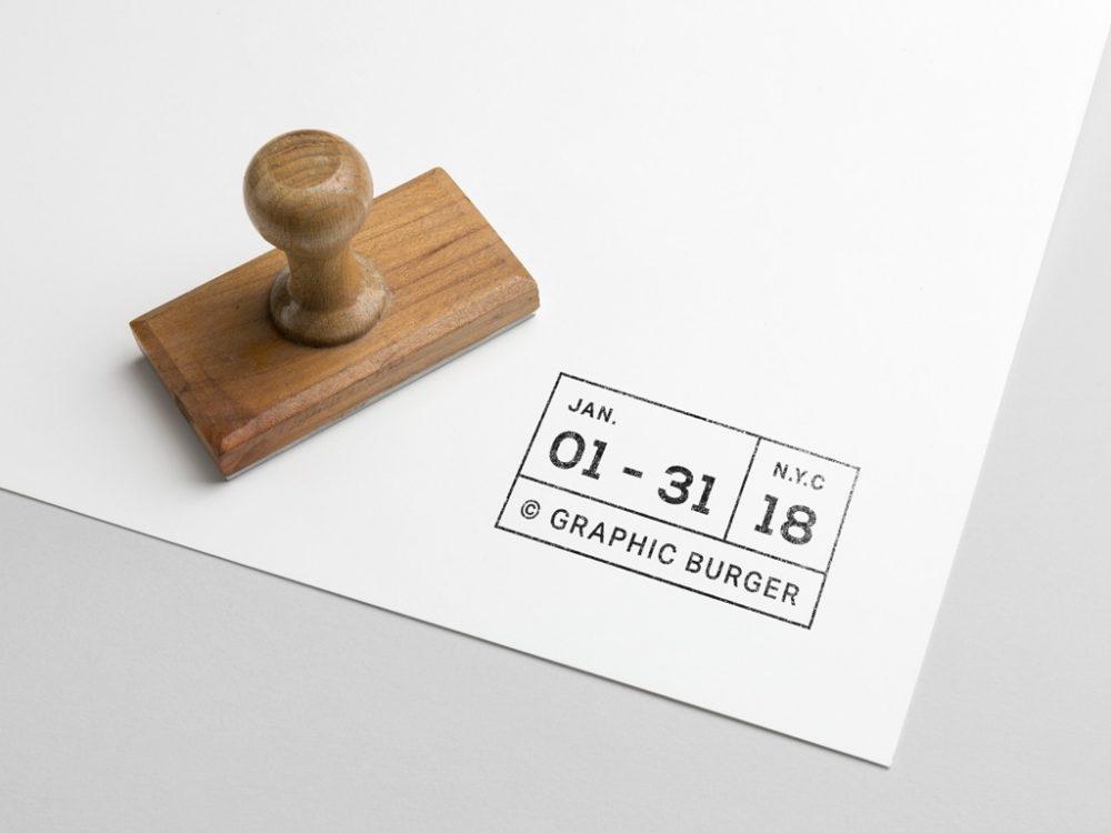 free rubber stamp mockup mockuptree