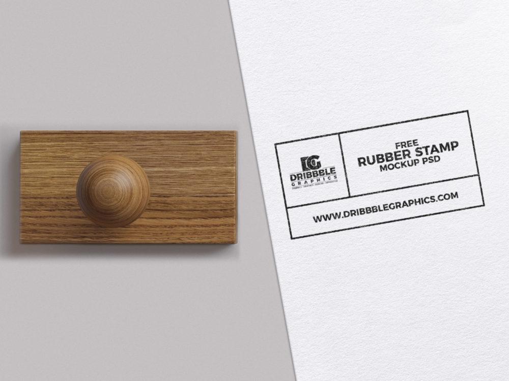 free rubber stamp mockup psd free mockup