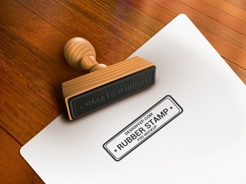 free rubber stamp mockup psd on behance