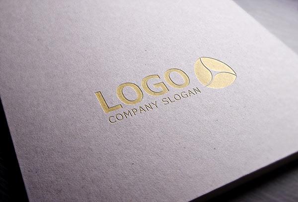 gold stamping logo mockup free mockups freedesigns