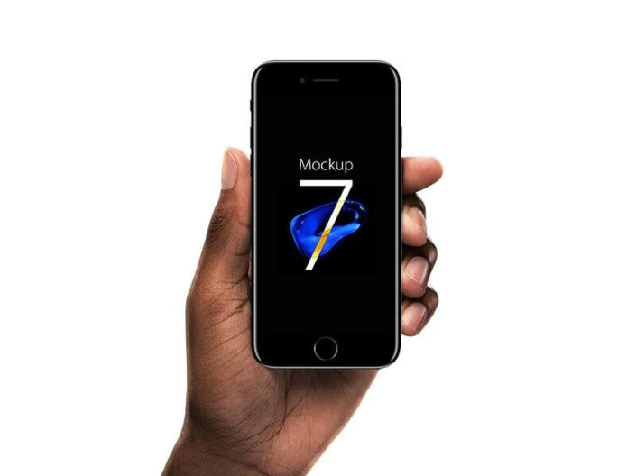 iphone 7 jet black mockup mockuptree