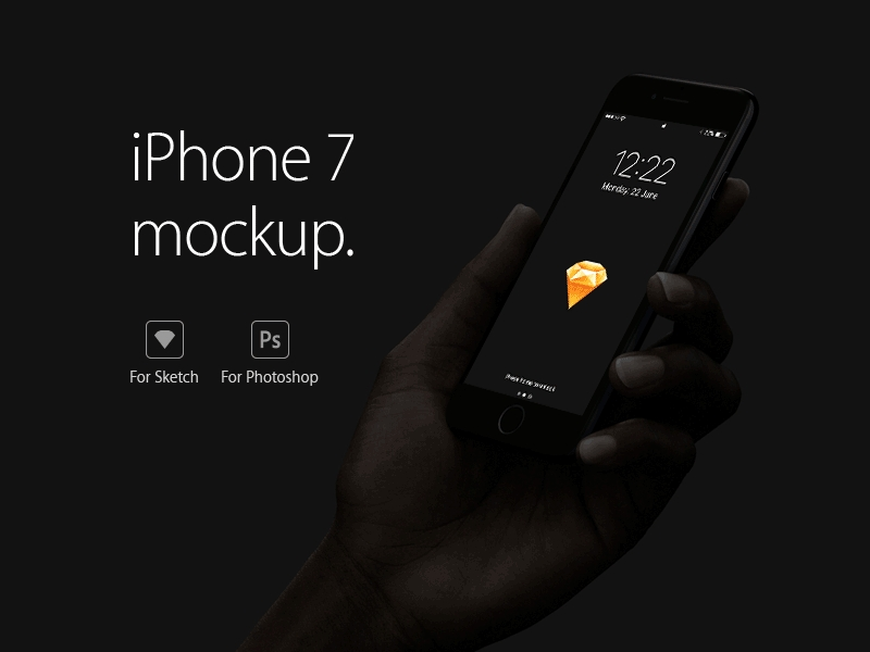 iphone 7 mockup freebie download sketch resource sketch repo