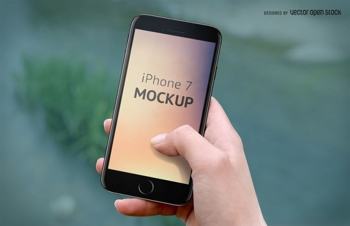 iphone 7 mockup on hand psd psd download
