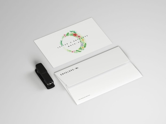 letter with envelope mockup free psd template daily mockup