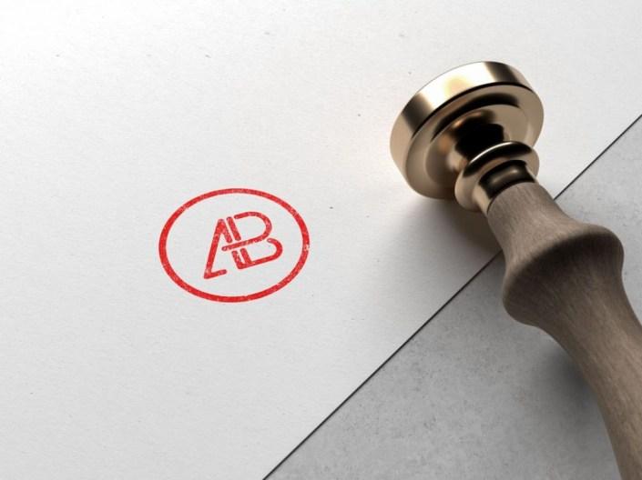 logo stamp mockup mockupworld