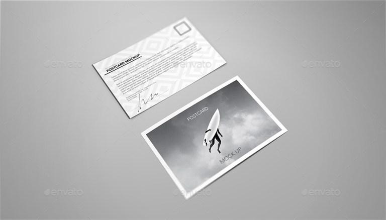 postcard invitation flyer mock up