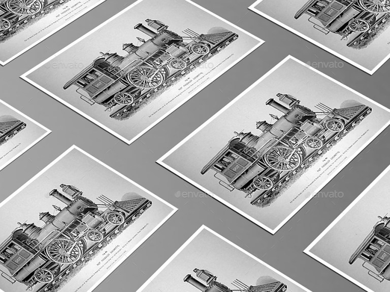 postcard mockups box set