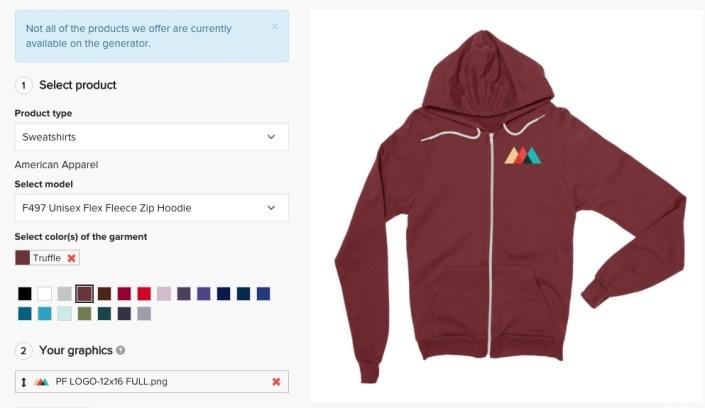 printful on twitter zip hoodies up on the mockup generator ideal