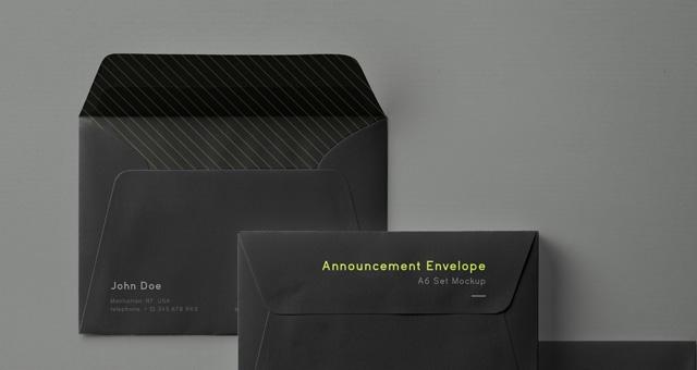psd envelope mockup set a6 psd mock up templates pixeden