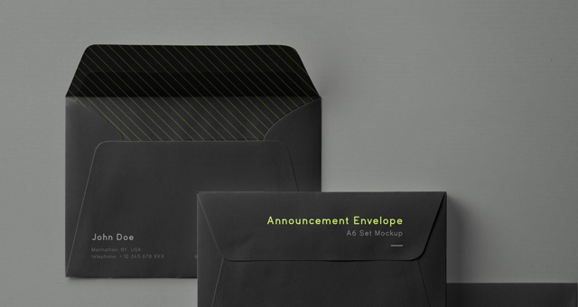 psd envelope mockup set a6 psd mock up templates pixeden