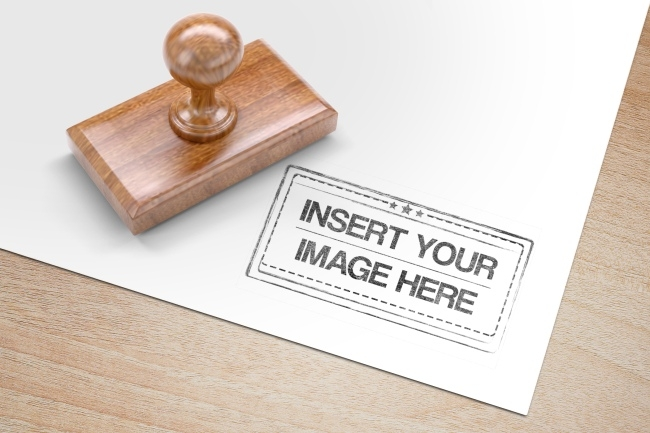 rectangle wood stamp mockup generator mediamodifier