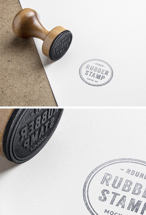 rubber stamp psd mockup graphicburger