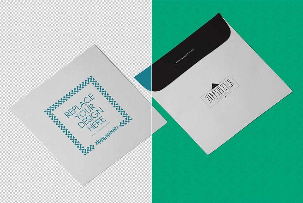 square envelope mockup mockupworld