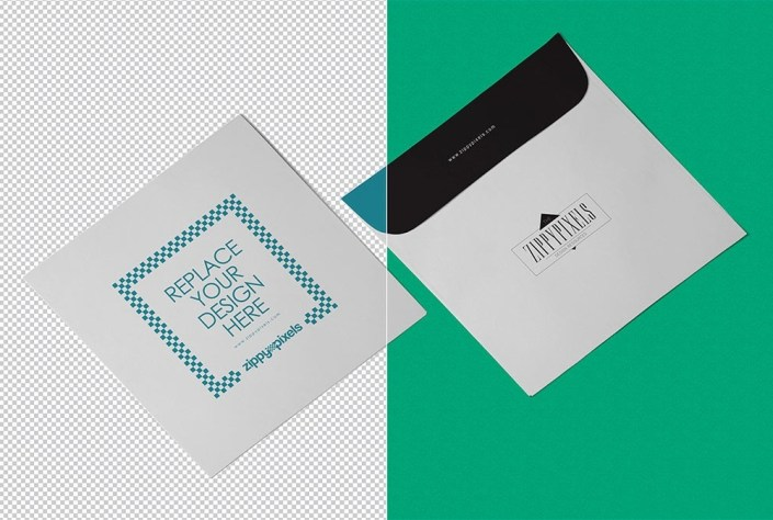 square envelope mockup mockupworld