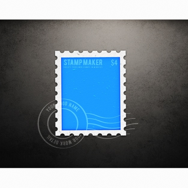 stamp mock up design psd file free download