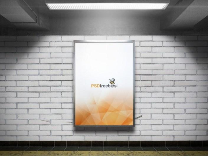 subway advertising billboard mockup mockupworld