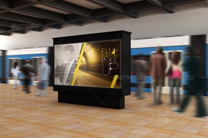 subway advertising mockups