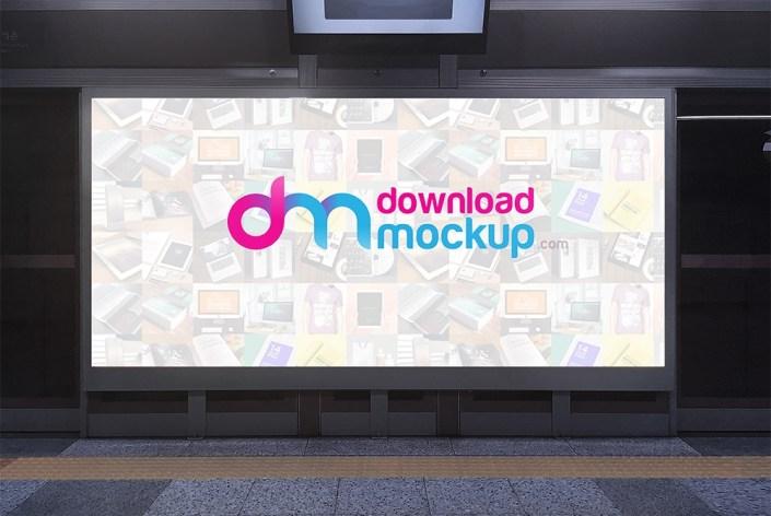subway billboard mockup free psd download psd