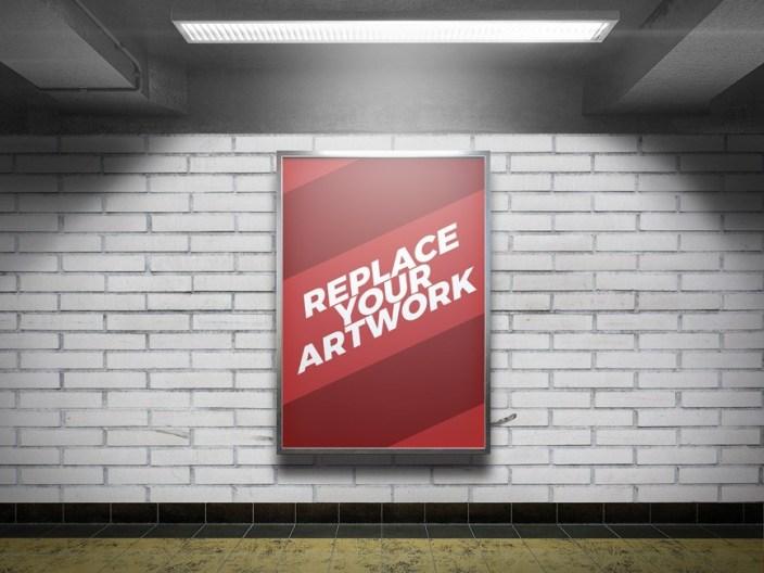 subway station advertising display mockup mockup love