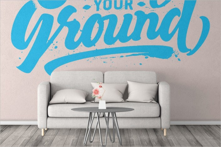 33 wall mockup templates free psd design download