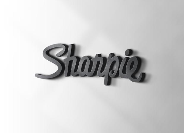 3d clean psd logo mockup