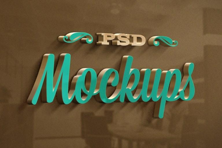 3d logo mock up vol 4 free on behance
