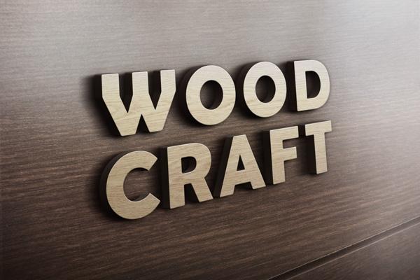 3d wooden logo mockup graphicburger