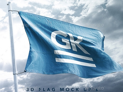 9 realistic 3d flag mock ups graphic assets on dribbble