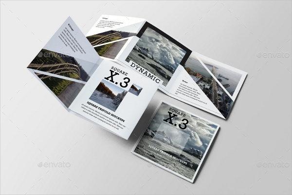 9 square brochure mock ups psd indesign ai format download