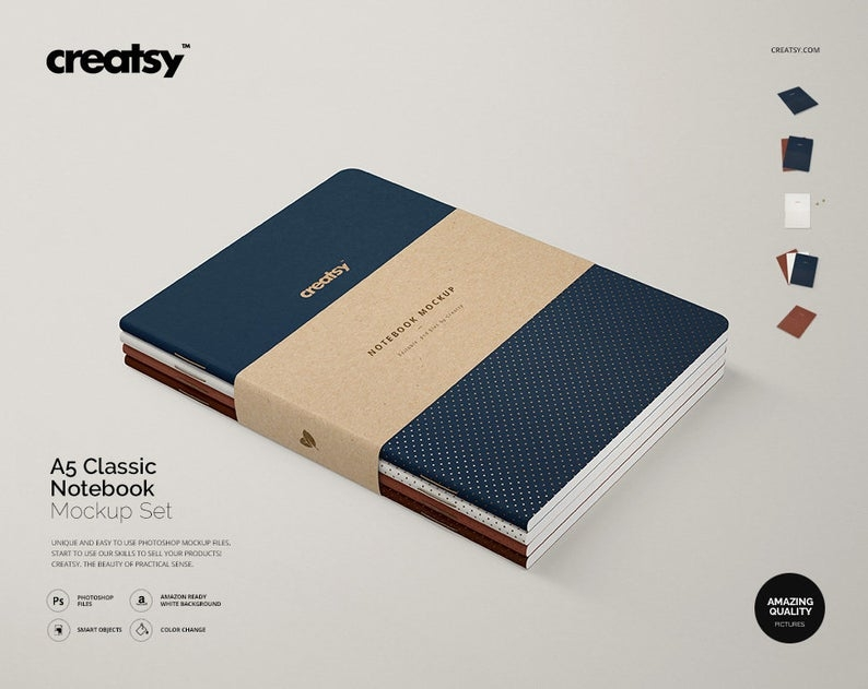 a5 classic notebook mockup set notebook template custom notebook personalized notebook planner journal