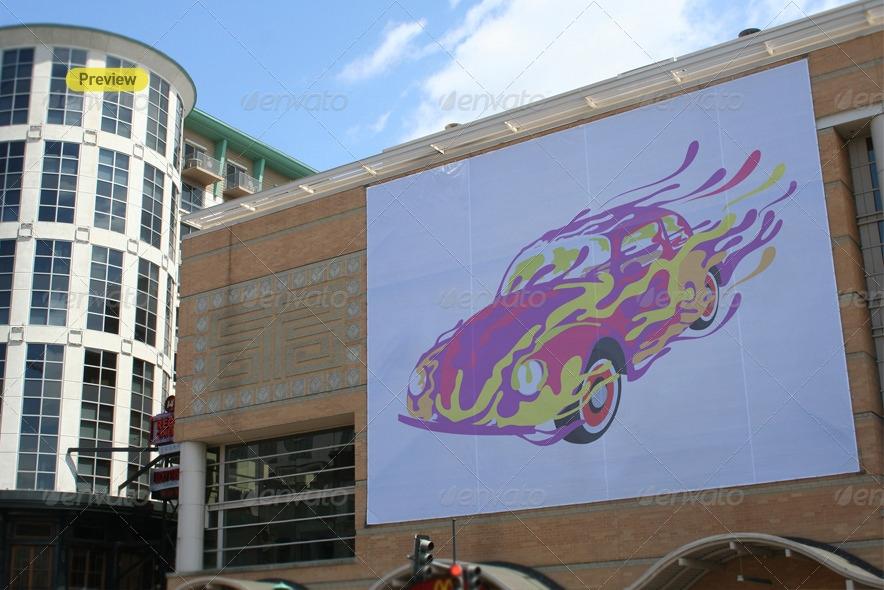 billboard banner mock up