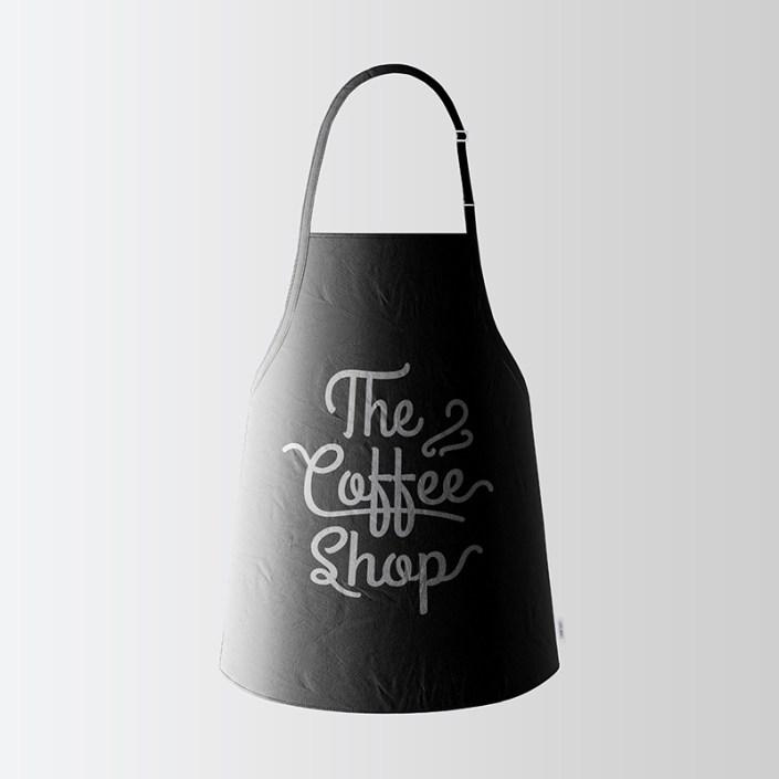 black apron mockup free on behance