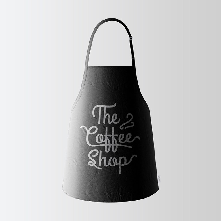 black apron mockup free on behance