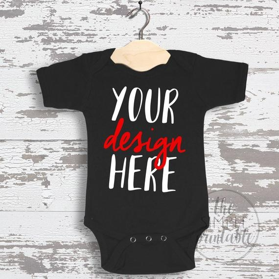 blank black ba onesie mockup fashion design styled stock photography ba mock up flat direct view on wood background jpg download