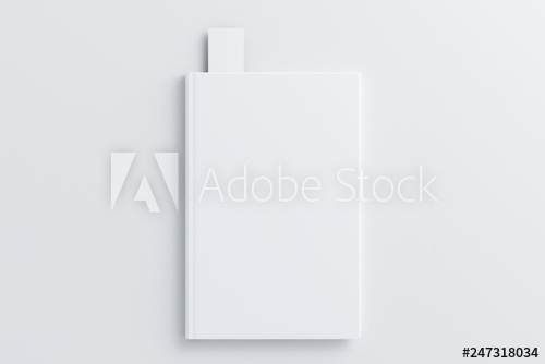 blank book with bookmark mockup buy this stock