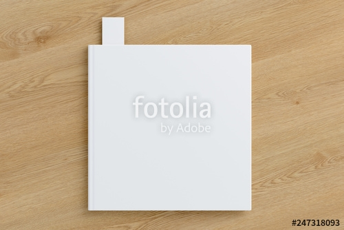 blank book with bookmark mockup stock photo and royalty