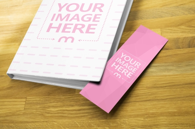book cover and paper bookmark mockup generator mediamodifier