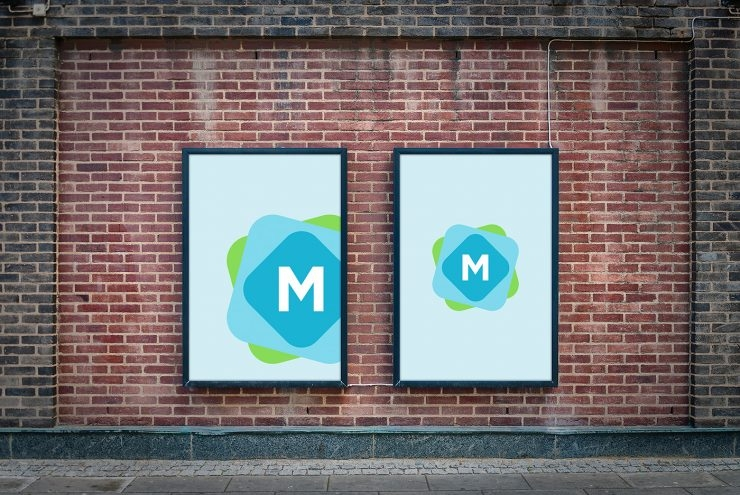 brick wall billboard mockup mockup templates